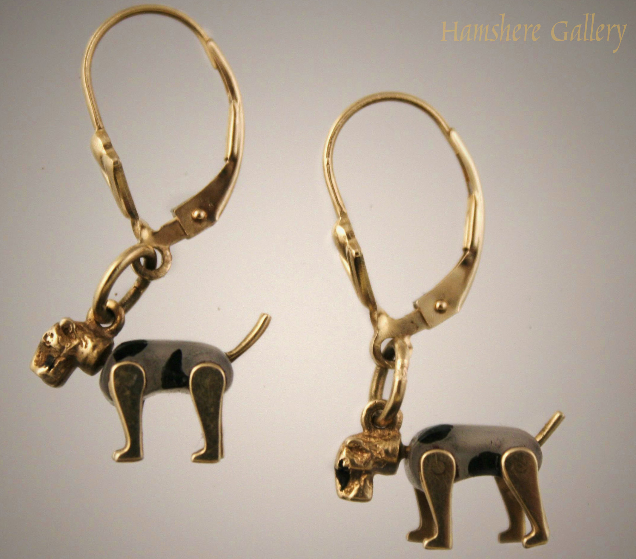 Click to see full size: Wire Fox Terrier Earrings