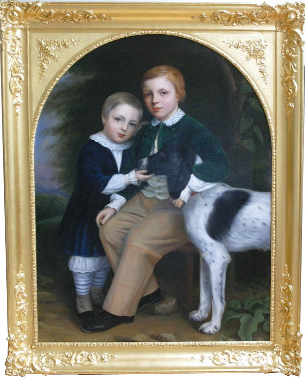 Click to see full size: Two boys and Dog