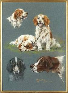 Click to see full size: Sporting Dogs 2- Signed 'T.Blinks'