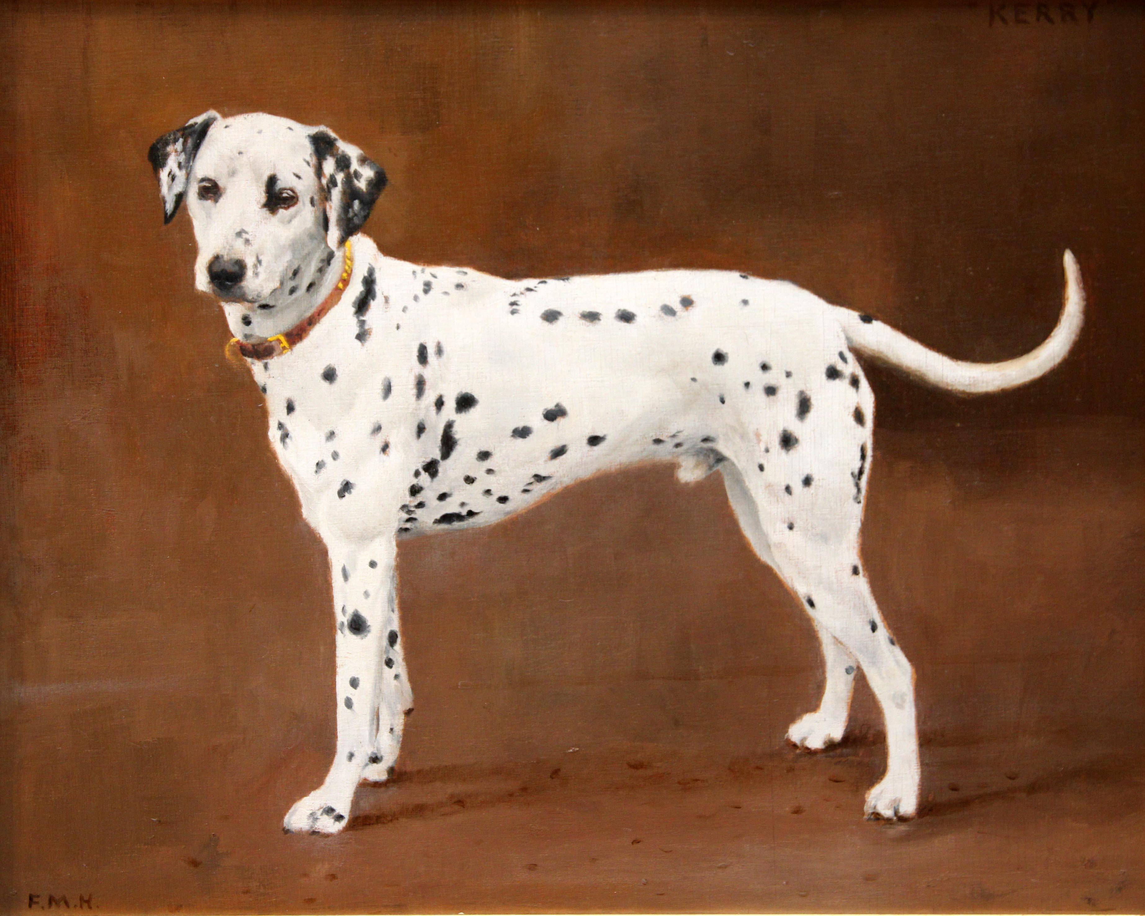 Click to see full size: Dalmatian By Florence Mabel Hollams (1877 - 1963)