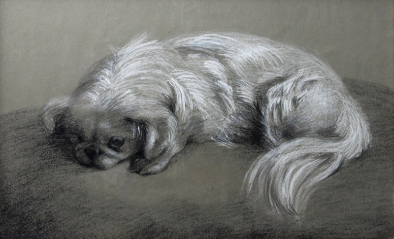 Click to see full size: Pekingese manner of Horatio Henry Couldery