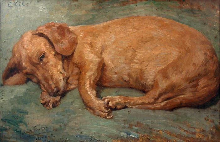 Click to see full size: Dachshund by Miss Lucy Marguerite