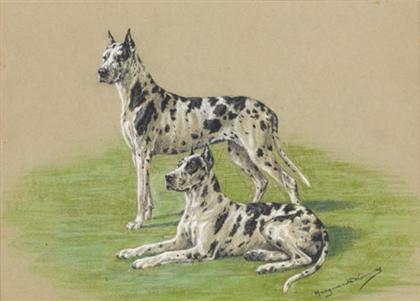 Click to see full size: Pastel by the famous English canine artist Margurite Kirmse, (1885-1954)