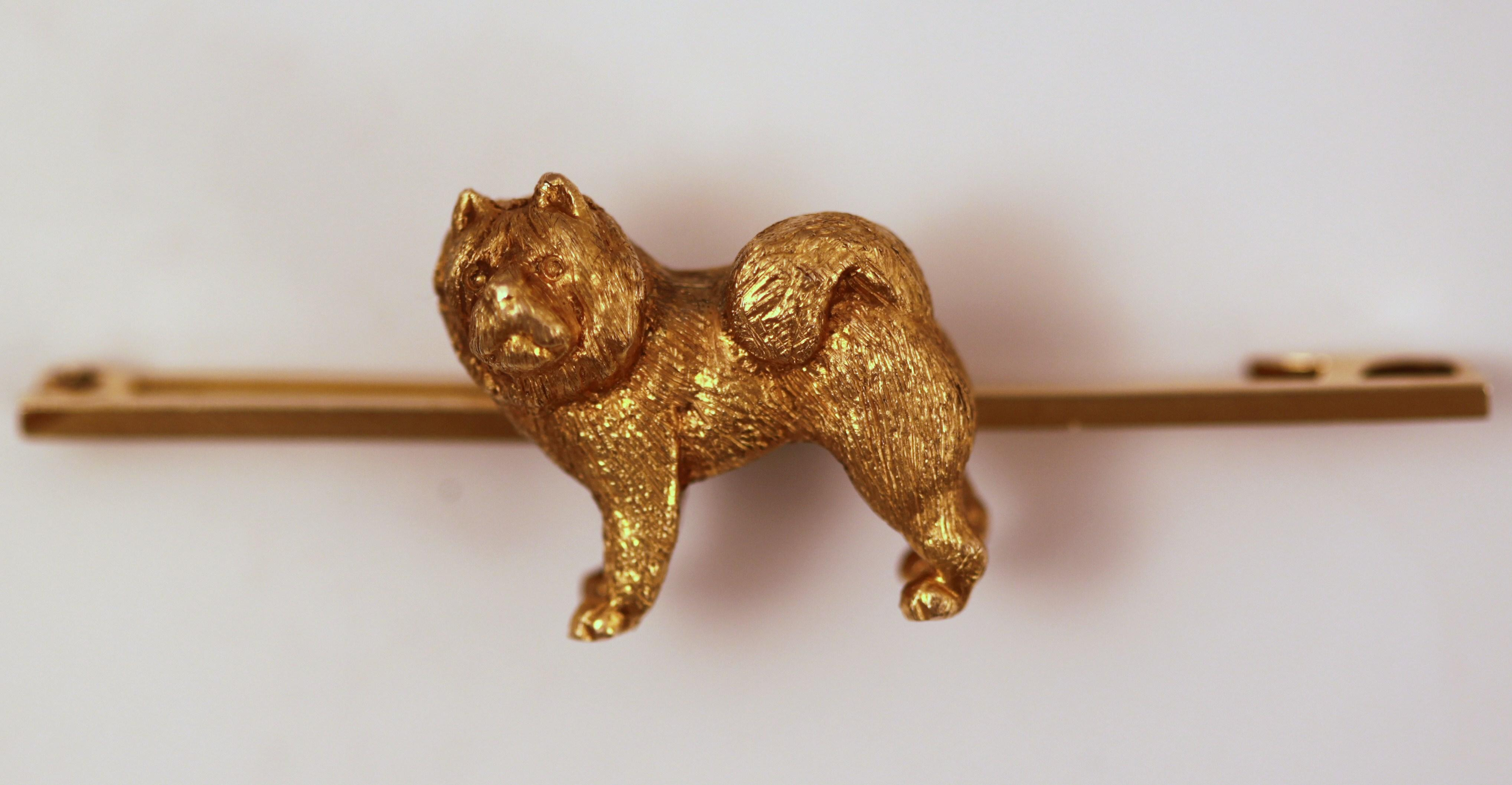 Click to see full size: Chow Chow gold bar