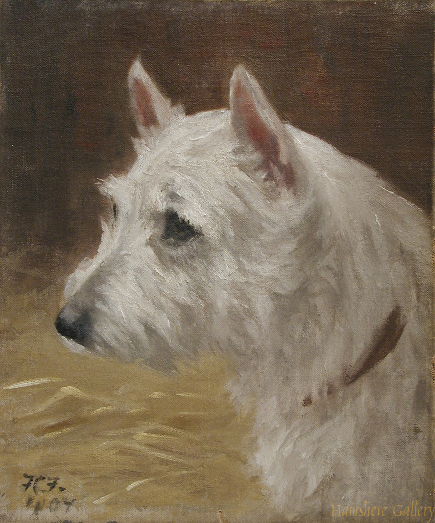 Click to see full size: West Highland Terrier By Frances C Fairman- West Highland Terrier By Frances C Fairman