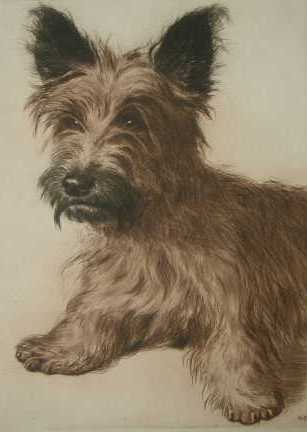 Click to see full size: Skye Terrier by Kurt Meyer-Eberhard (1895-1977)