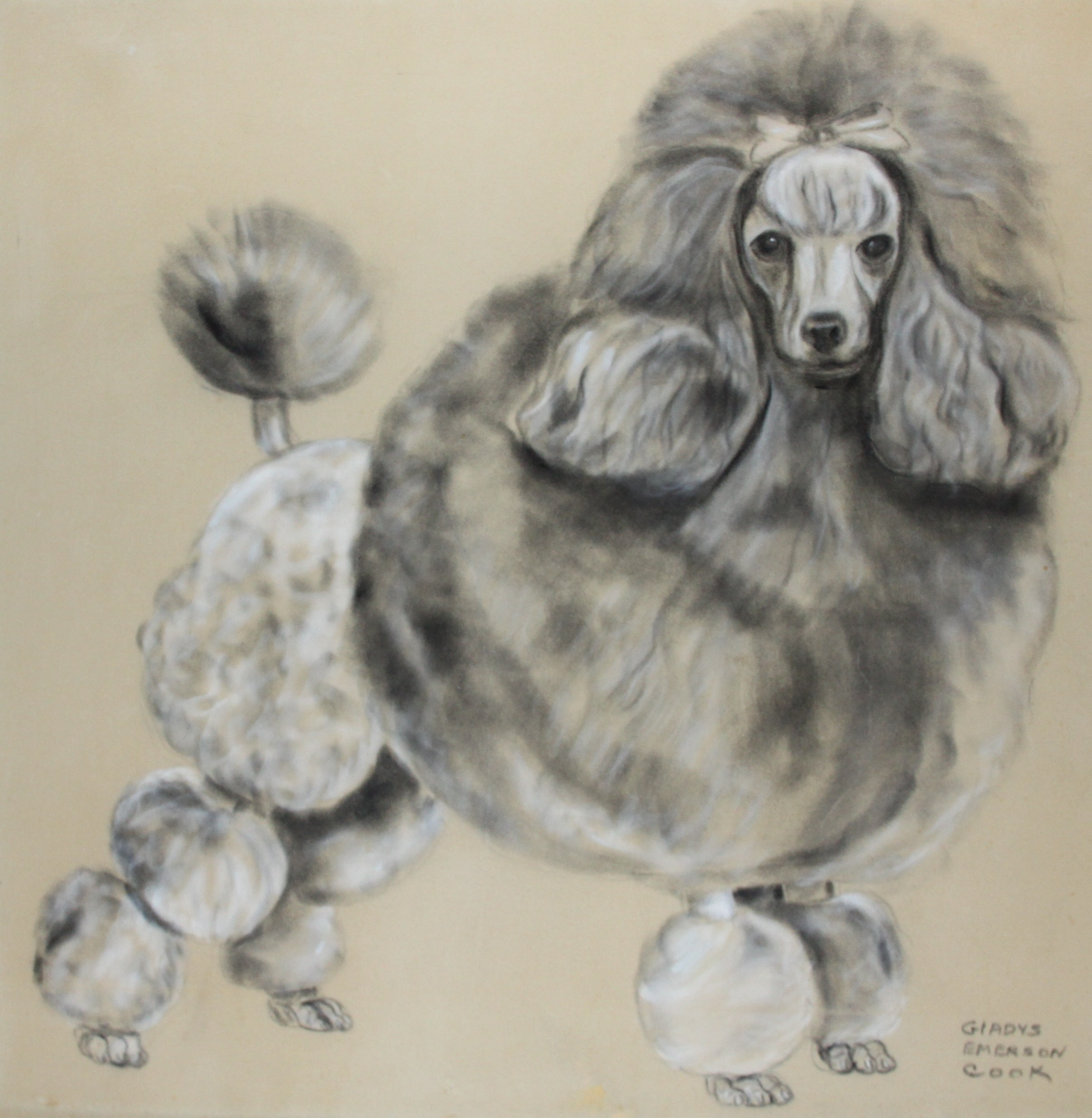 Click to see full size: A Standard Poodle by Gladys Emerson Cook (American, 1899-1976)- A Standard Poodle by Gladys Emerson Cook (American, 1899-1976)
