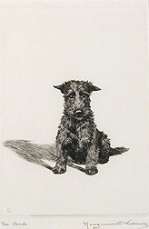 Click to see full size: Dry-point etching by  Marguerite Kirmse (American, 1885 -1954)- Dry-point etching by  Marguerite Kirmse (American, 1885 -1954)