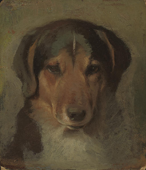Click to see full size: Foxhound by Sir Edwin Henry Landseer (British, 1802-1873)- Foxhound by Sir Edwin Henry Landseer (British, 1802-1873)