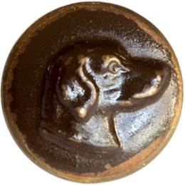 Click to see full size: ?Boutons de chasse v?nerie? hunting buttons of Setters A set of six Bakelite ?boutons de chasse v?nerie?, hunting buttons of Setters. French, circa 1920