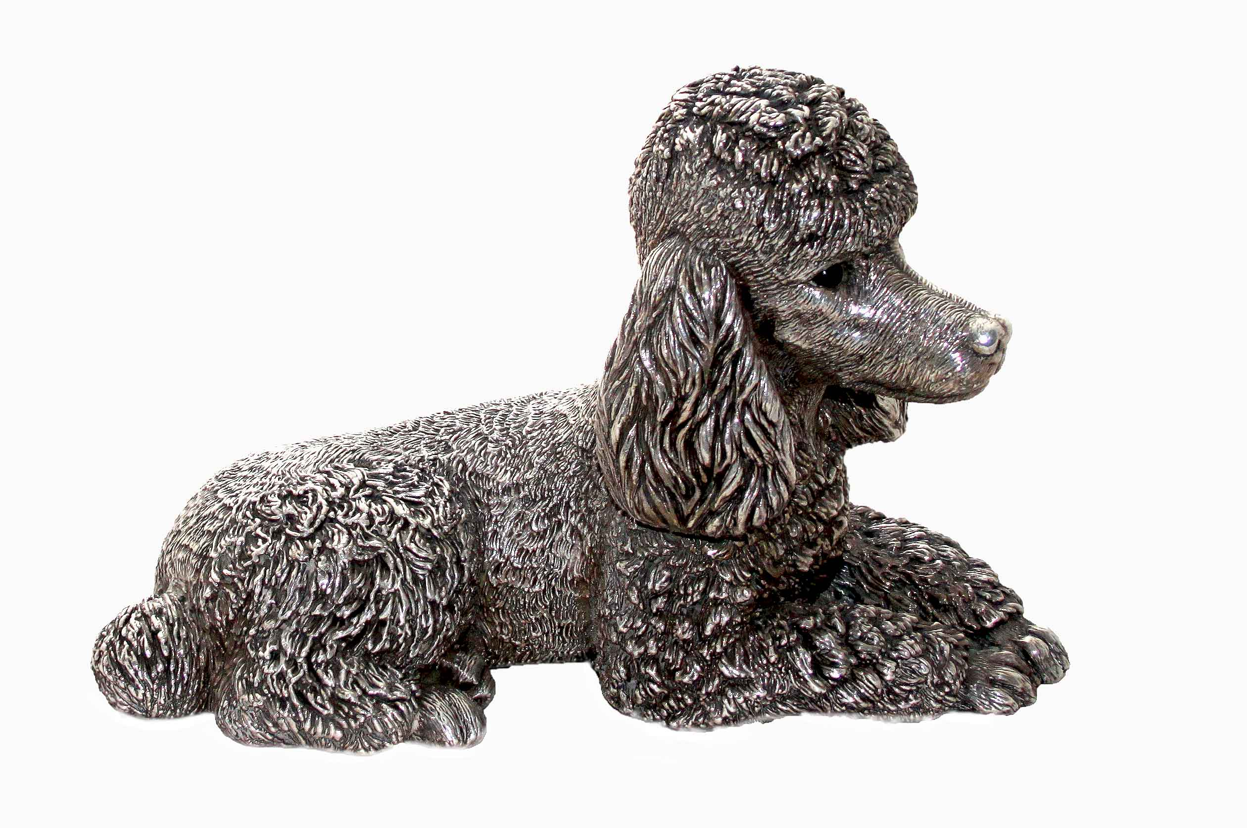 Click to see full size: Solid Silver Poodle