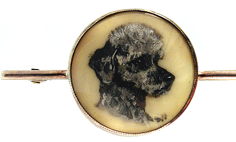 Click to see full size: Poodle miniature on ivorine- Poodle miniature on ivorine