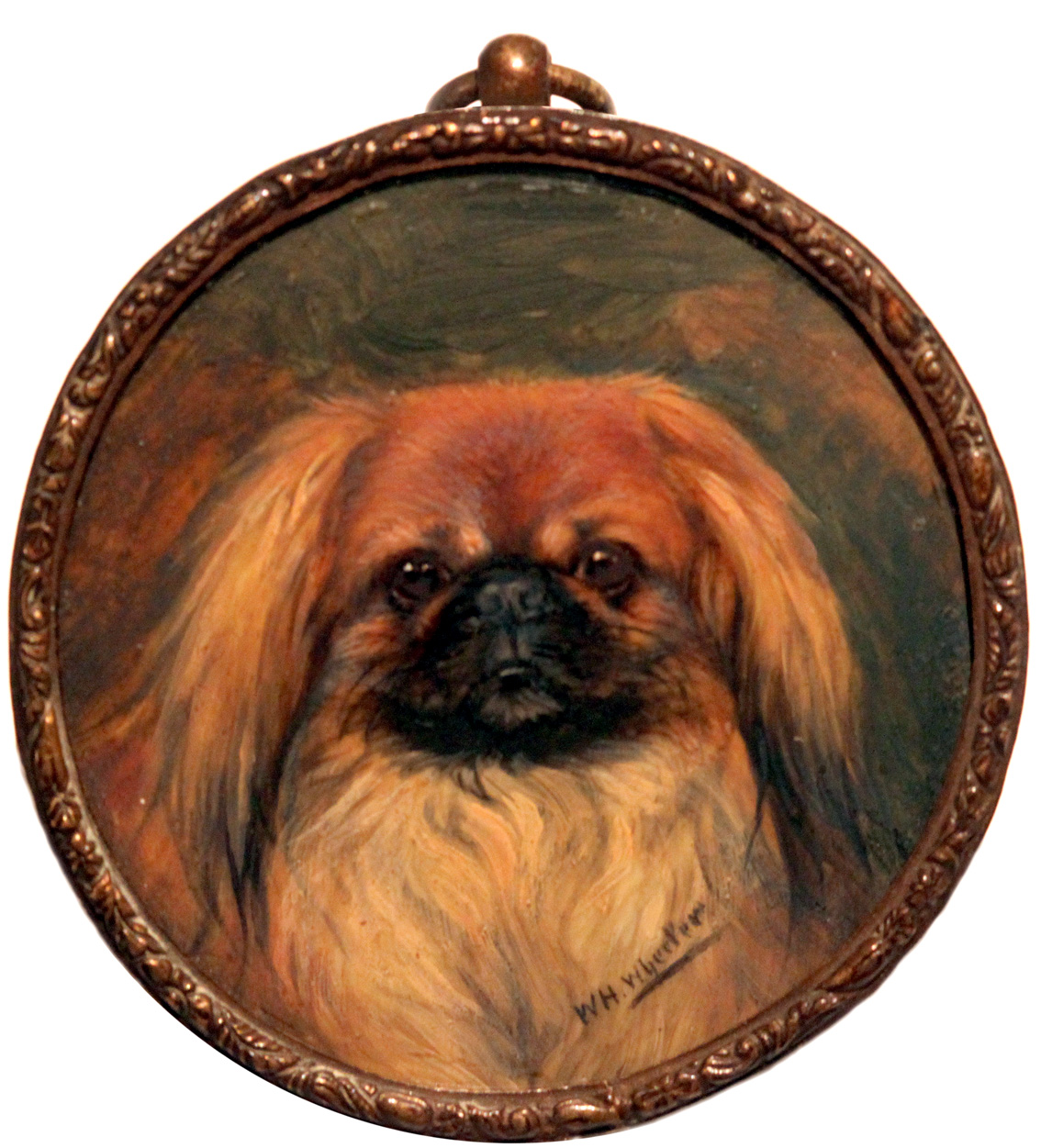 Click to see full size: Miniature of a Pekingese by Alfred Wheeler