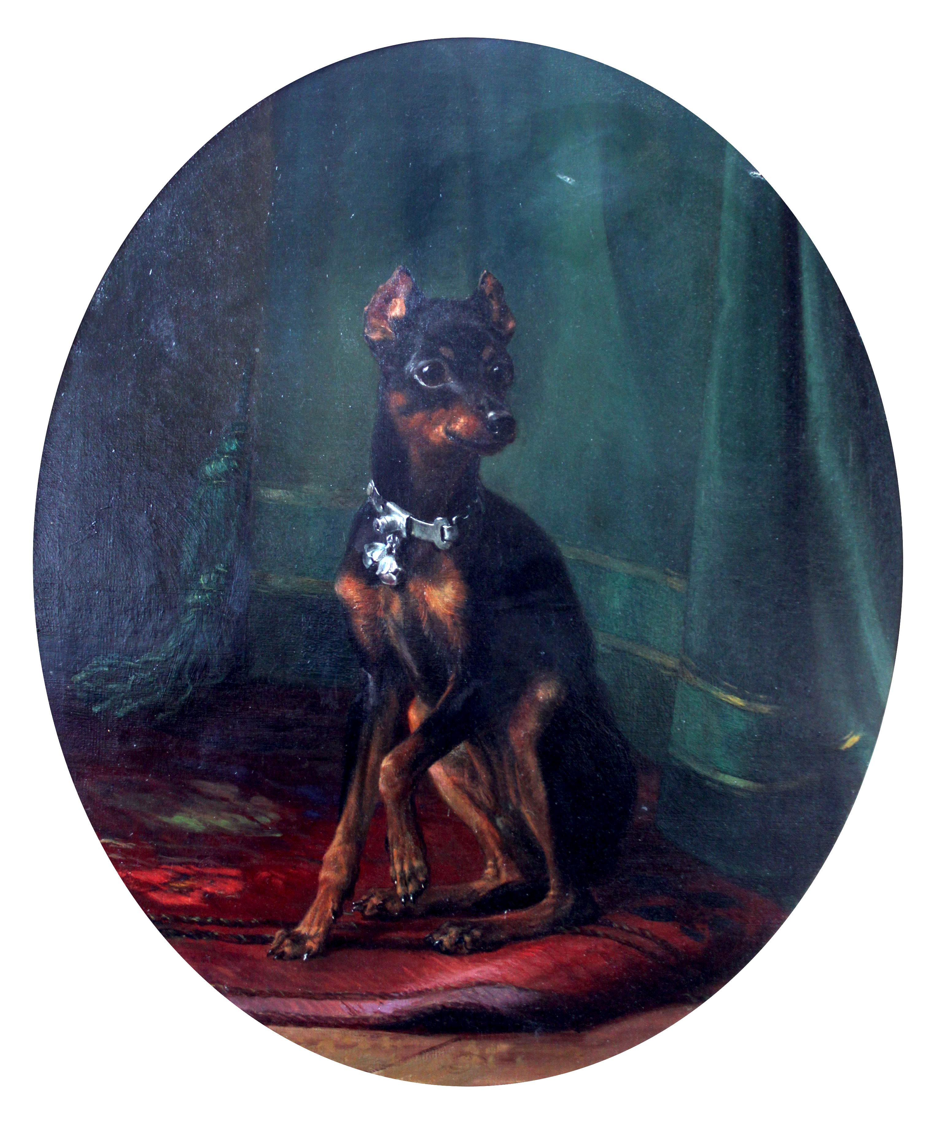 Click to see full size: Manchester terrier by Carl Frederick Deiker- Manchester terrier by Carl Frederick Deiker