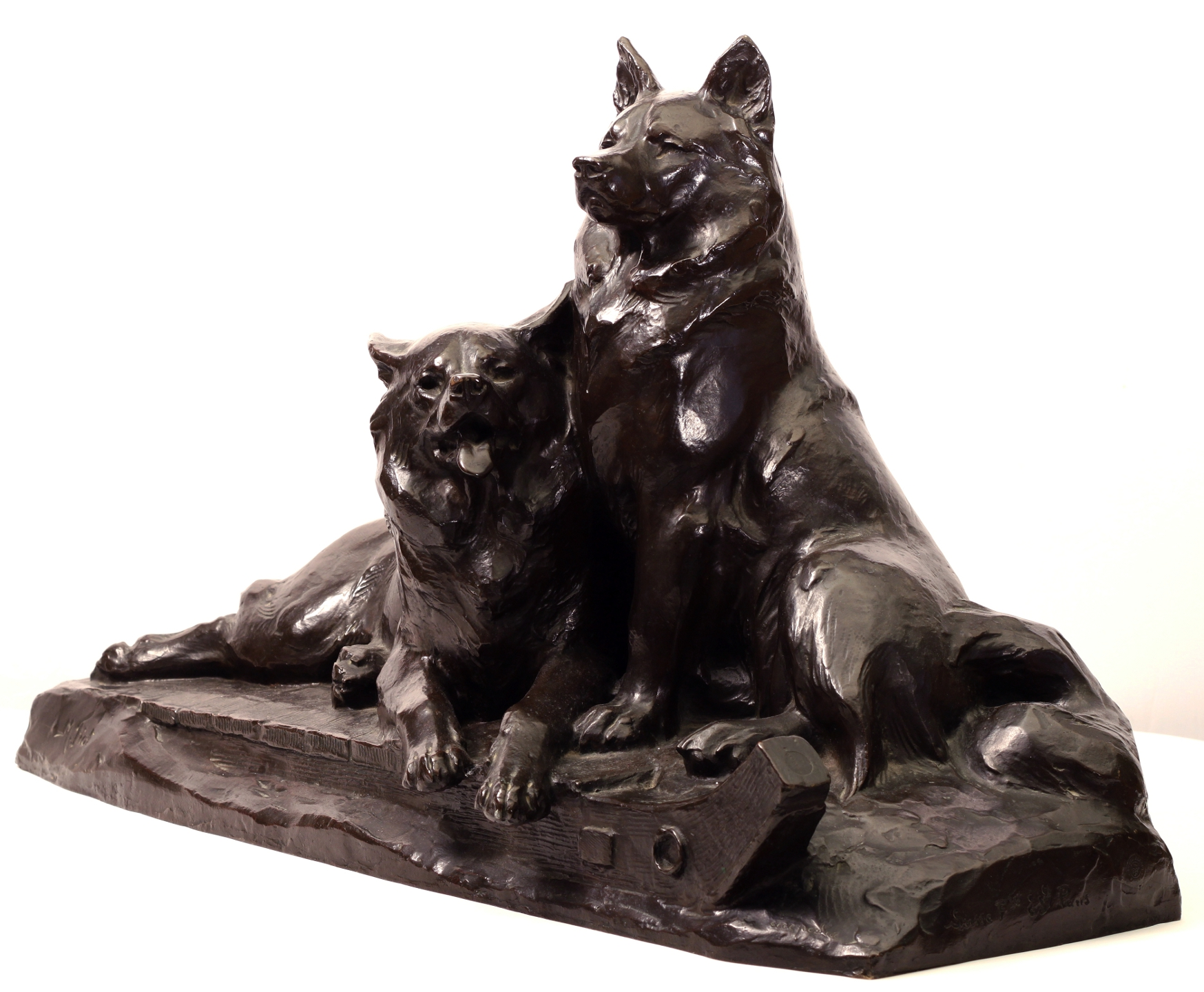 Click for larger image: Bronze Spitz  Samoyed by Maximilien-Louis - Bronze Spitz  Samoyed by Maximilien-Louis