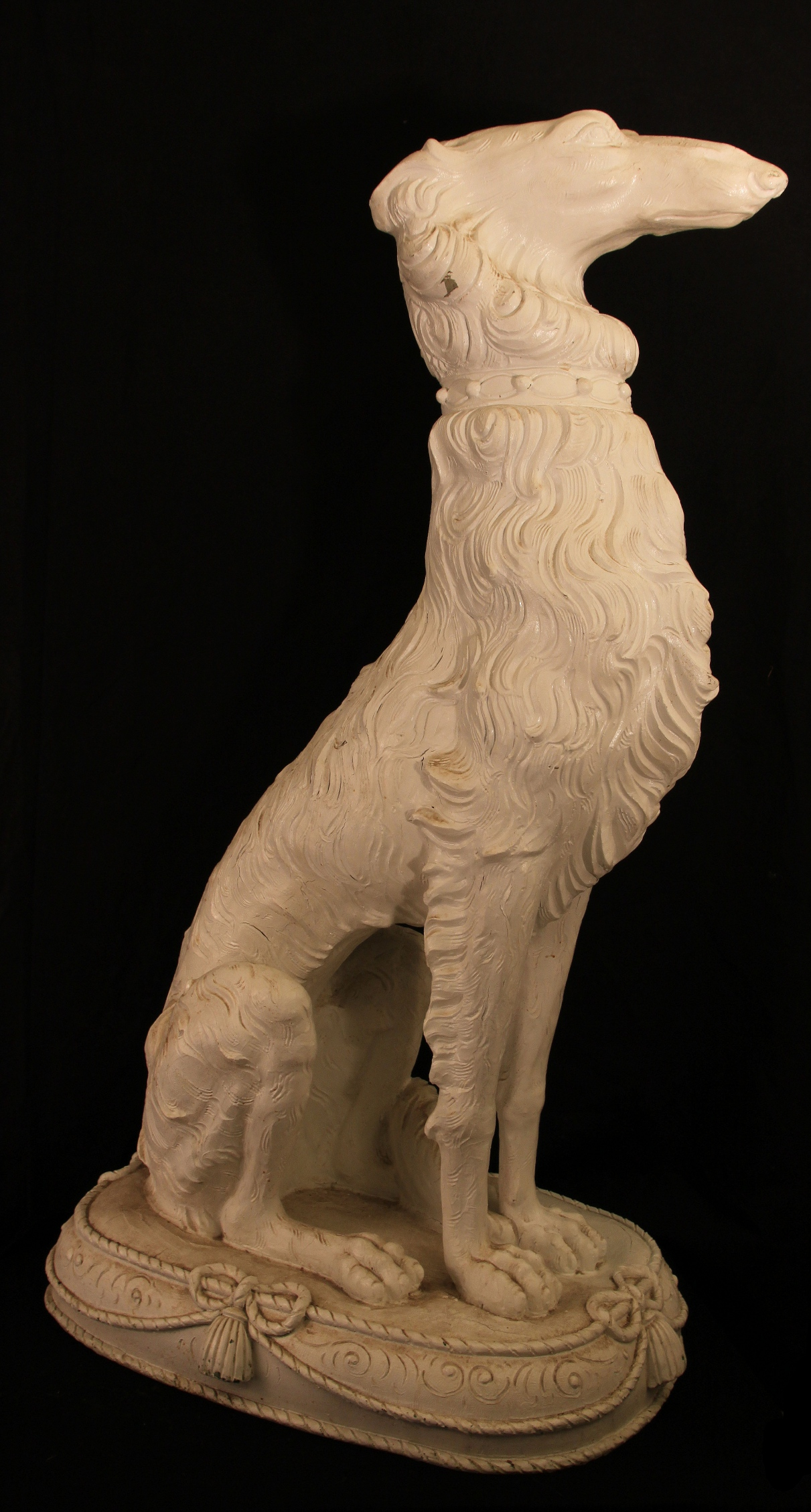 Click to see full size: papier-m?ch? Borzoi dogs