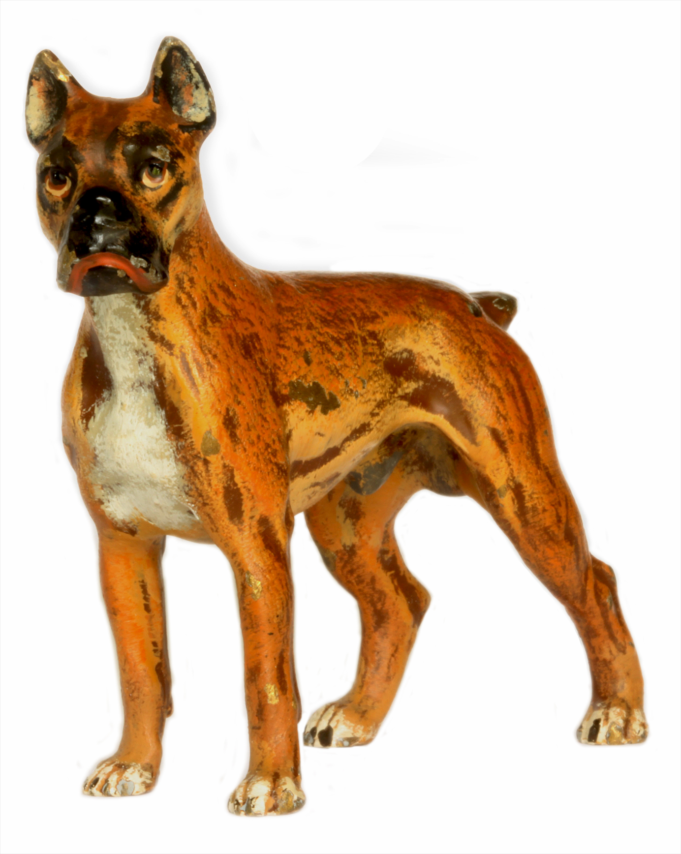 Click to see full size: Austrian cold painted bronze of a Boxer