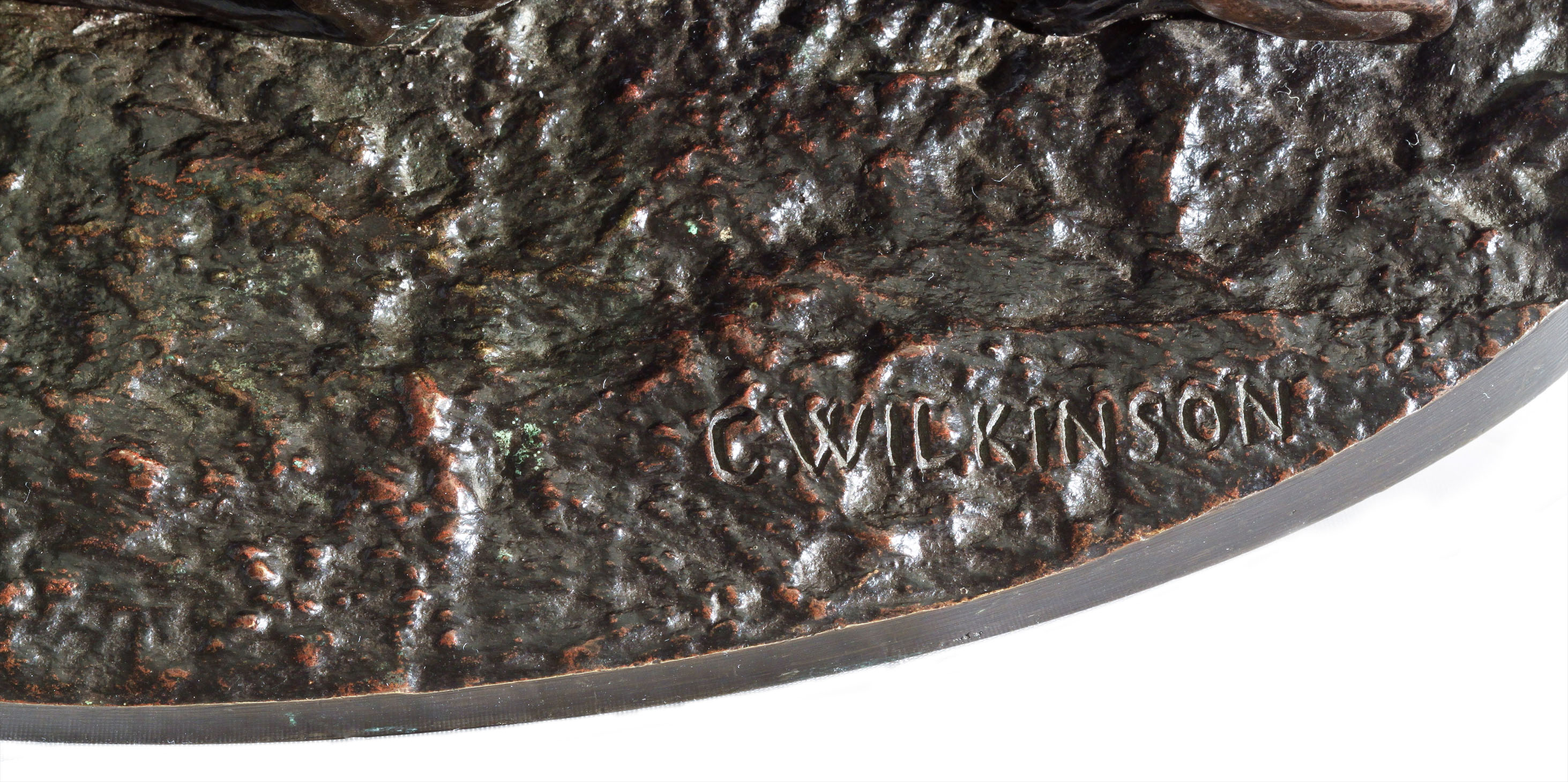 Click to see full size: - Bronze of two Italian Greyhounds  Whippets by Charles A Wilkinson 01 webready
