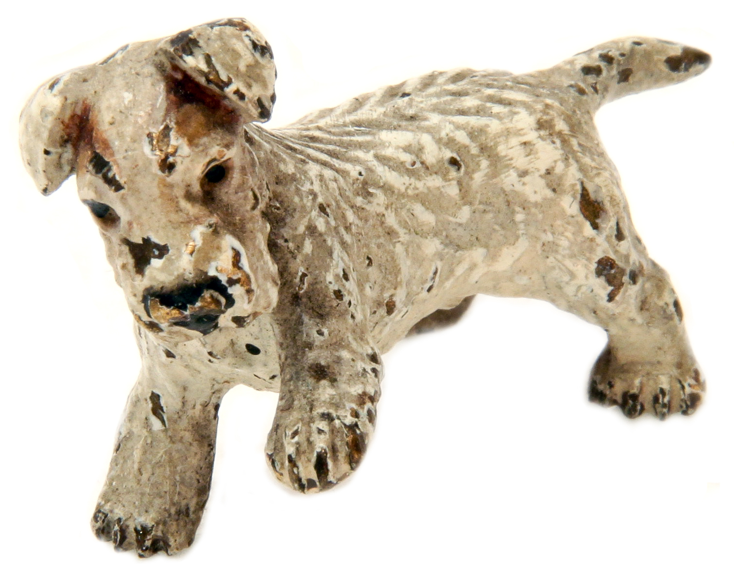 Click to see full size: Austrian bronze of a Sealyham Terrier