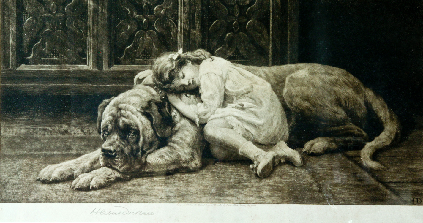 Click to see full size:  My lady Sleeps by Herbert Thomas Dicksee webready