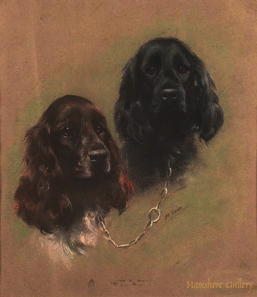 Click to see full size: Cocker Spaniels by Mabel Gear