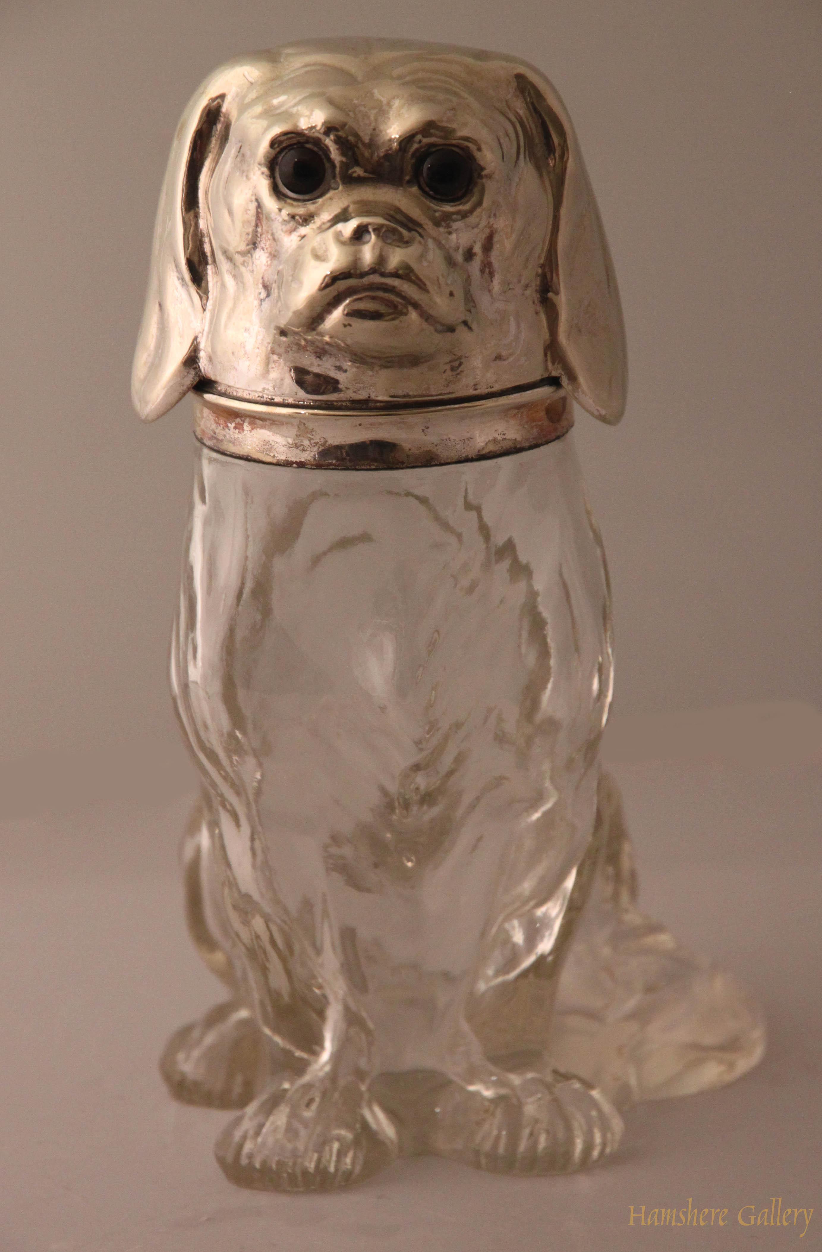 Click to see full size: Rock Crystal Cavalier King Charels Spaniel Decanter