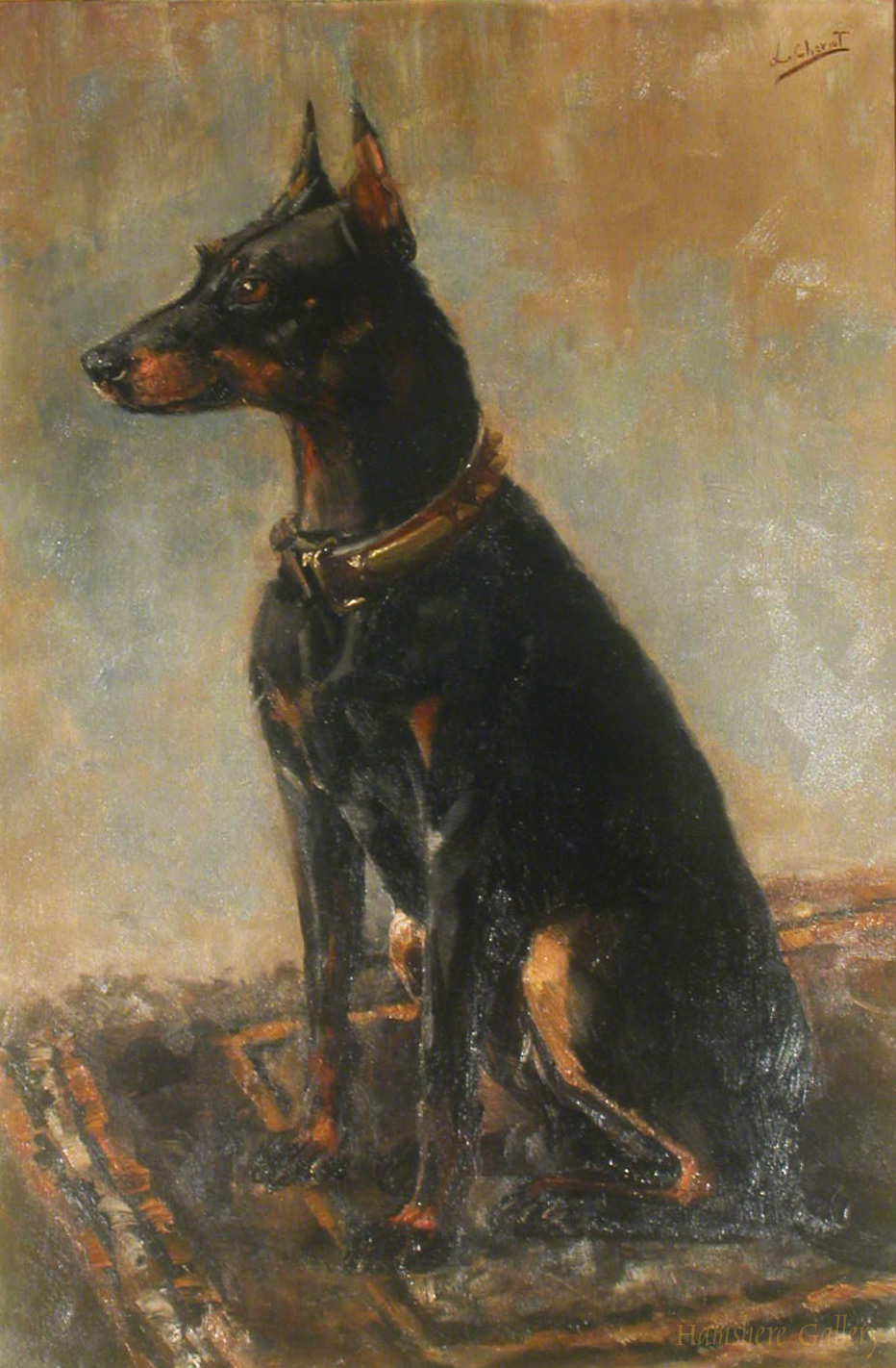 Click to see full size: Doberman Pincher by Lillian Cheviot