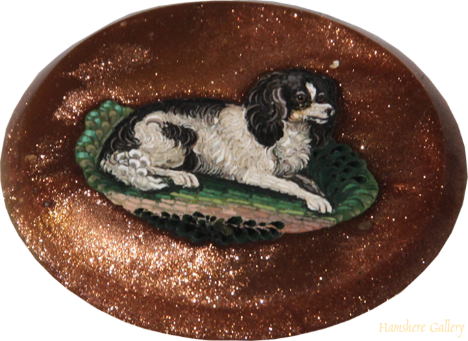 Click to see full size: Micromosaic of a King Charles Cavalier Spaniel