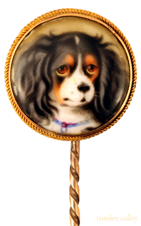 Click to see full size: Enamel on porcelain of Princess Victoria's favourite spaniel