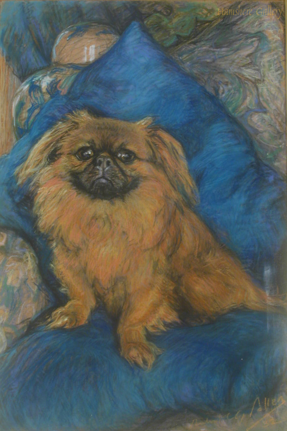 Click to see full size: Pastel of the Pekingese, �Jero�s Pu Zin� by Robert C G Allen
