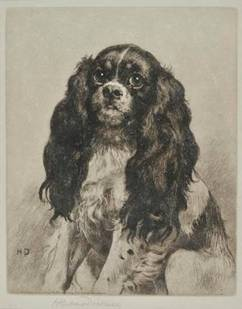 Click to see full size: King Charles Spaniel / Toy Spaniel by Herbert Thomas Dicksee