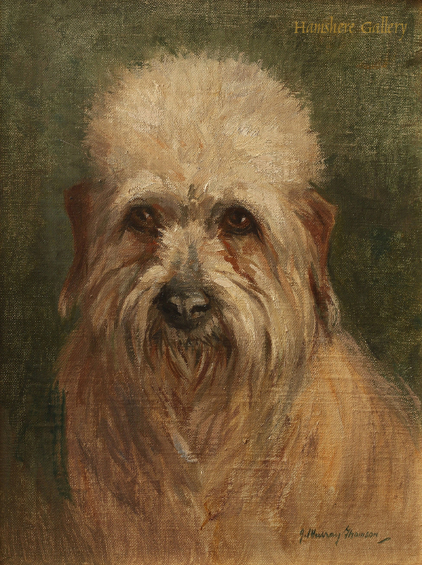 Click to see full size: Dandie Dinmont oil on canvas by John Murray Thomson