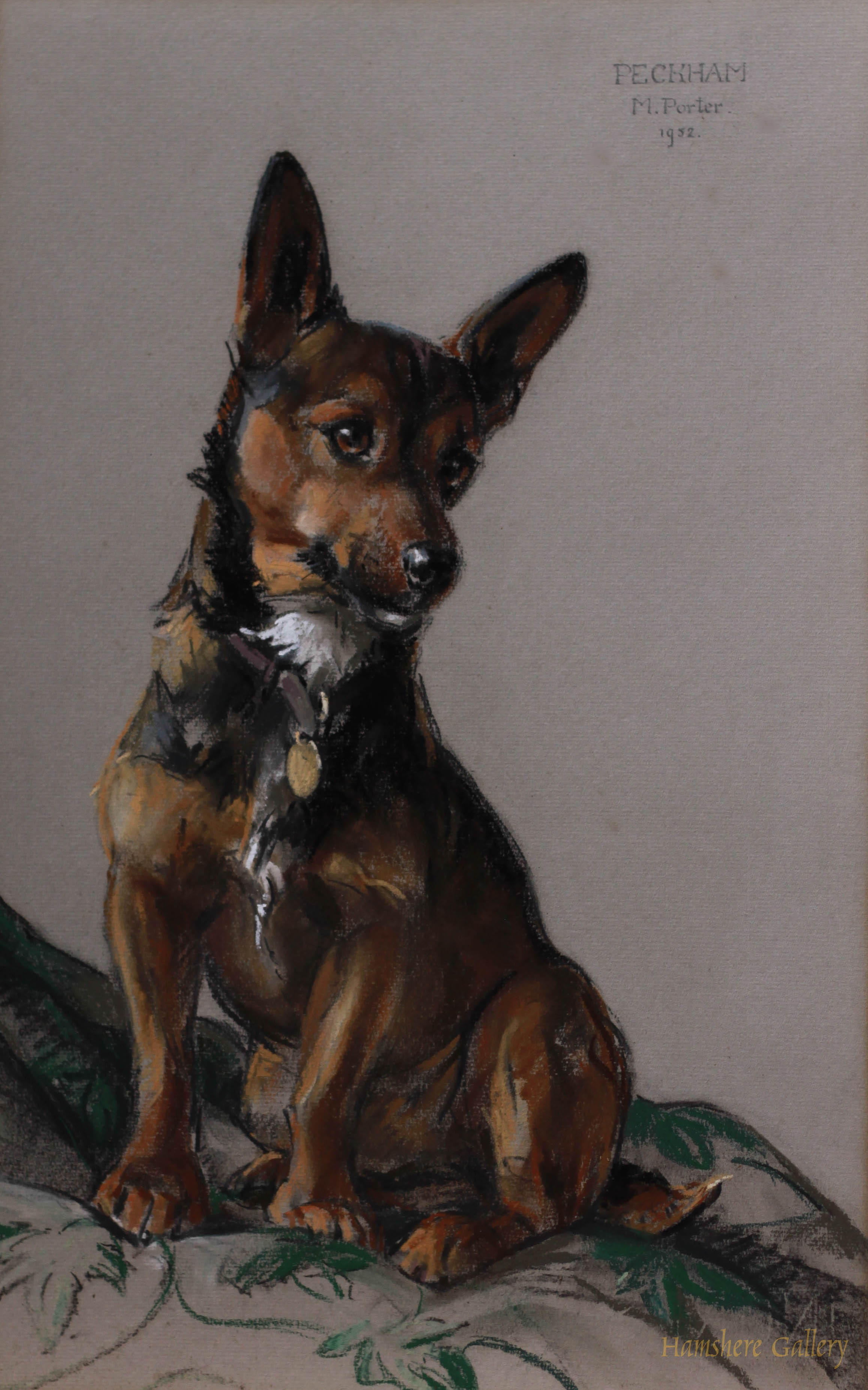 Click to see full size: �Peckham� a Cardigan Welsh corgi by Miss Marjorie I Porter
