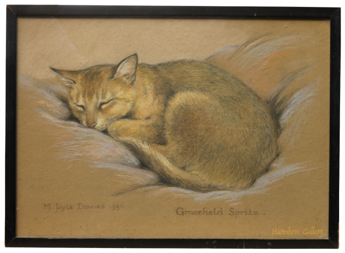 Click for larger image: Cat pastel by M Joyce Davies - Cat pastel by M Joyce Davies