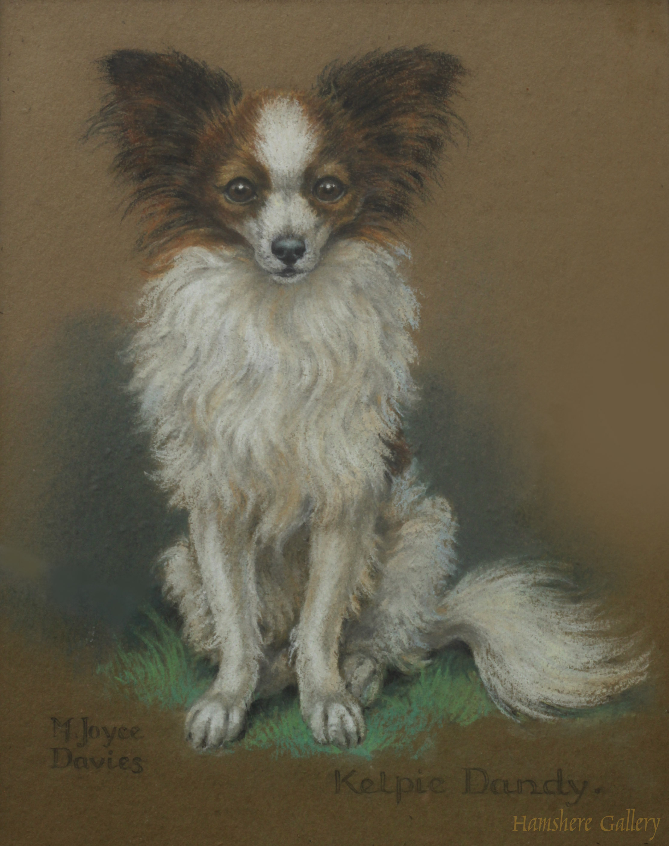 Click to see full size: Papillion pastel by M Joyce Davies