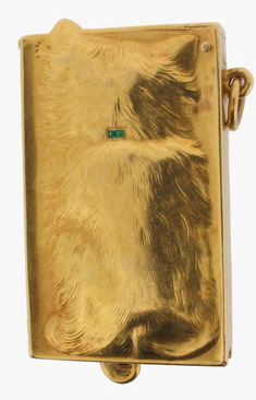 Click for larger image: Gold and gem set cat brooch by Edmond-Henri Becker  - Gold and gem set cat brooch by Edmond-Henri Becker