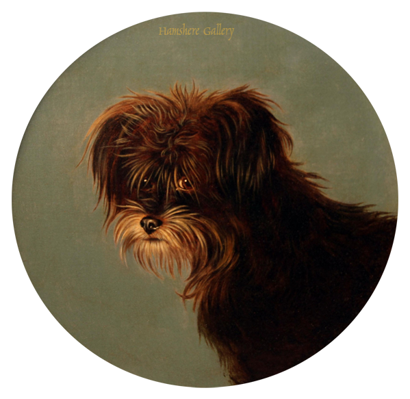 Click to see full size: Oil painting of a Terrier by George Earl