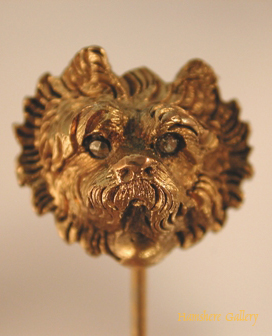 Click to see full size: Victorian West Highland Terrier stick pin