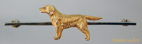Click to see full size: Gold Labrador Retreiver brooch