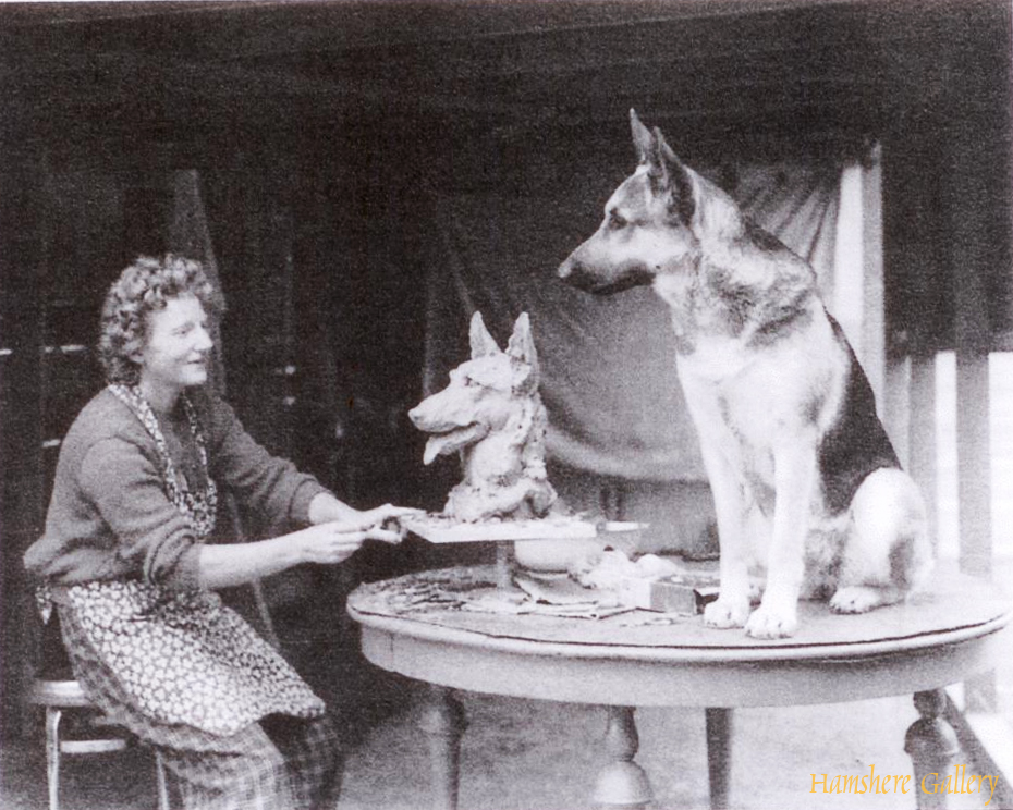 Click to see full size: Kay Finch modelling the German Shepherd Ch Xonia of San Miguel- Kay Finch modelling the German Shepherd Ch Xonia of San Miguel
