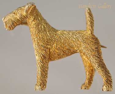 Click to see full size: Wire-haired Fox Terrier brooch