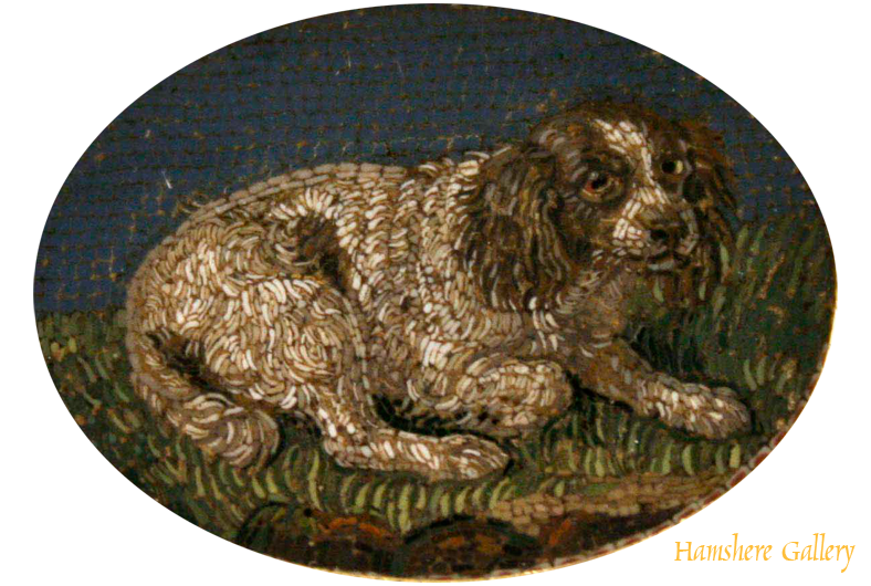 Click to see full size: Charles Cavalier Spaniel Micro-Mosaic Brooch