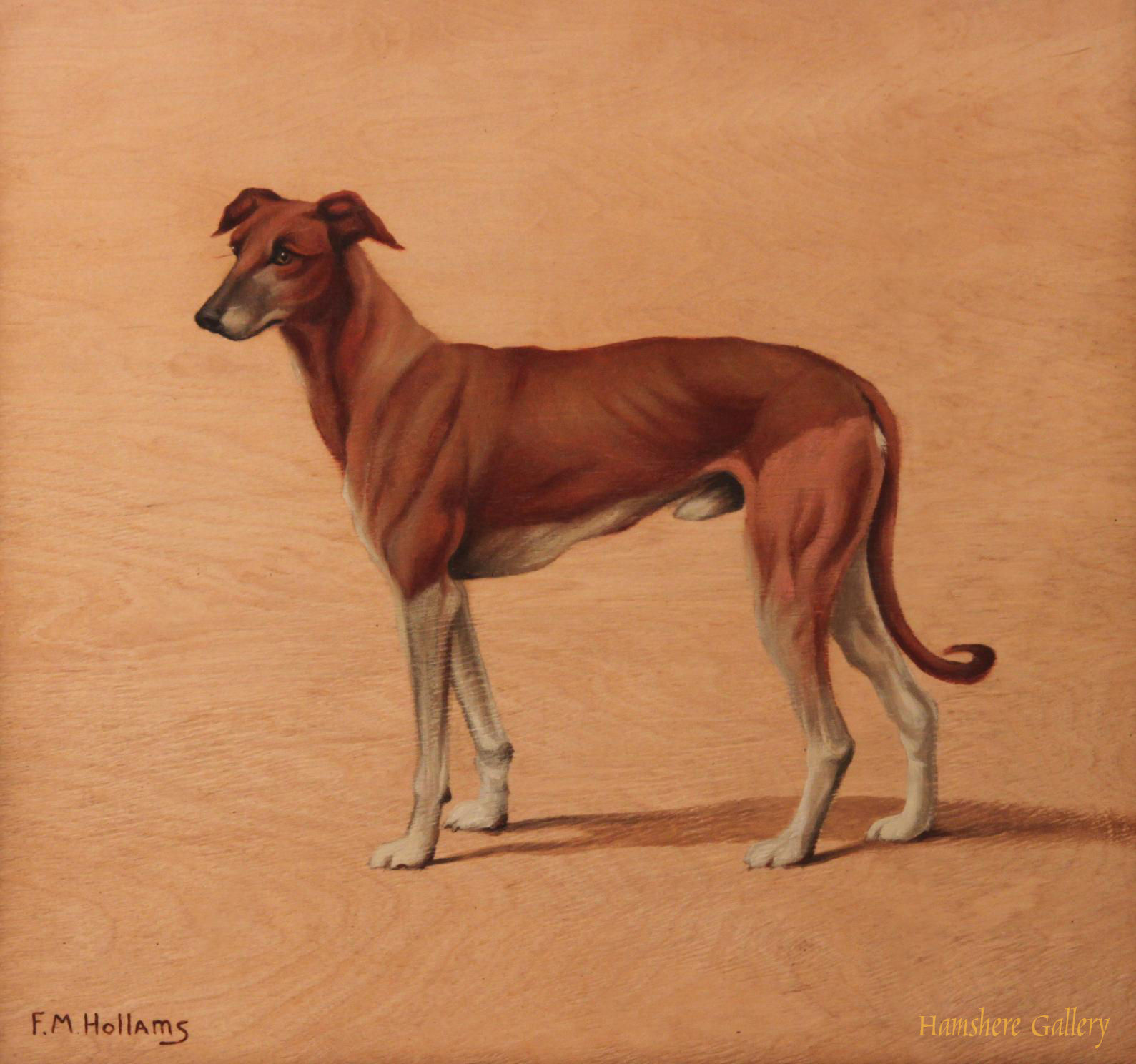 Click to see full size: Greyhound by Florence Mabel Hollams