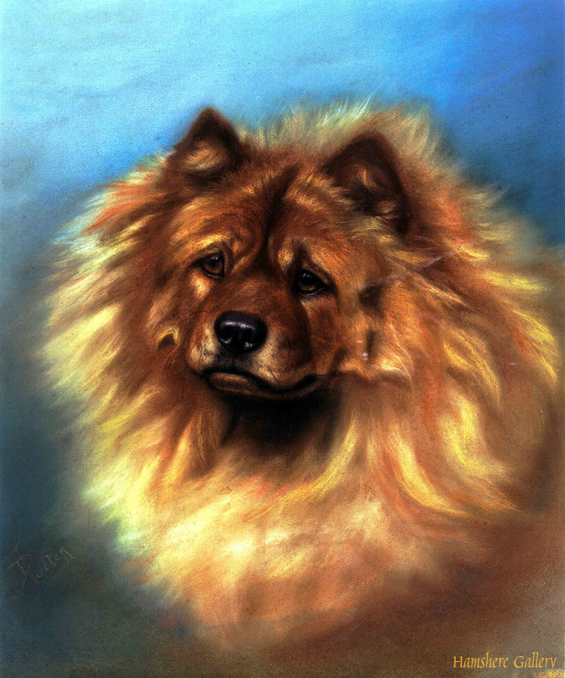 Click to see full size: Chow Chow by Miss Ada Elizabeth Tucker