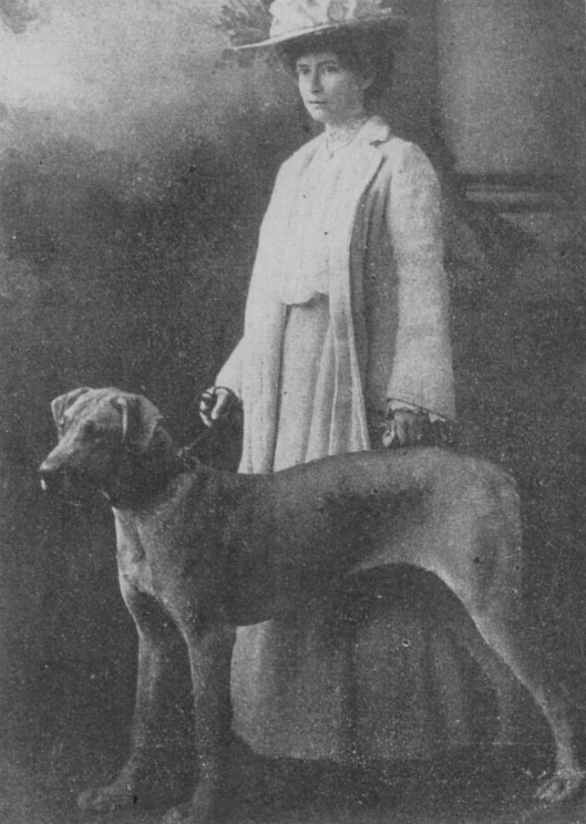 Click to see full size:  Mrs Minnie Fox (English, 1875-1976) with The Lady Volcano-  Mrs Minnie Fox (English, 1875-1976) with The Lady Volcano