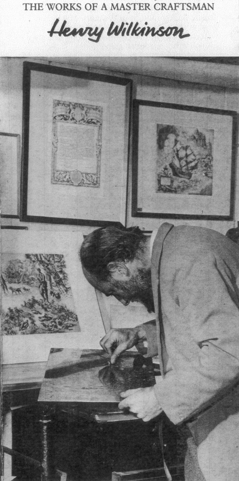Click to see full size: Henry Wilkinson RE, ARCA, FIAL (English,1921-2011) at work in his studio- Henry Wilkinson RE, ARCA, FIAL (English,1921-2011) at work in his studio