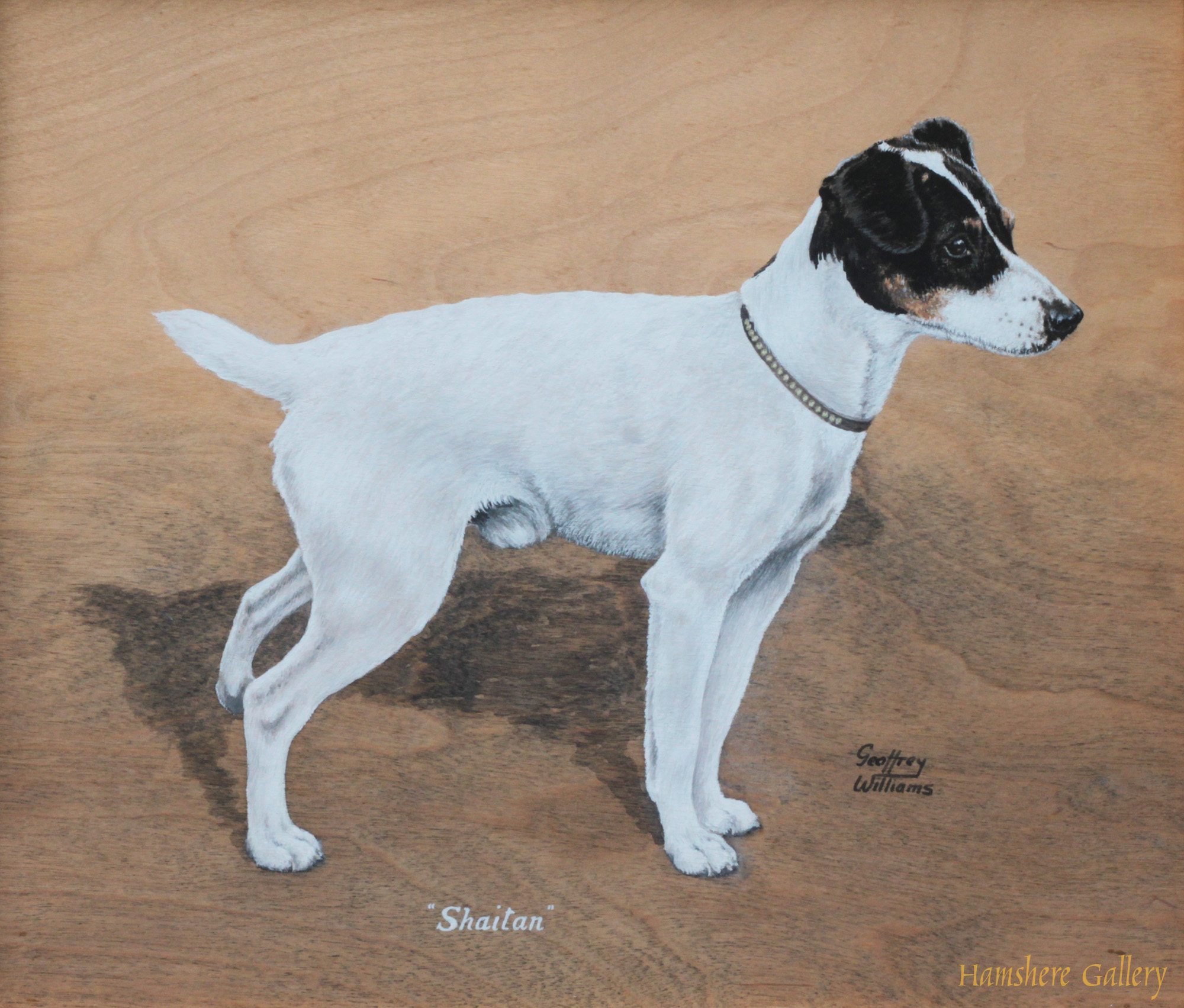 Click to see full size: Oil of the Smooth-haired Fox Terrier