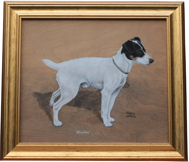 Click for larger image: Oil of the Smooth-haired Fox Terrier