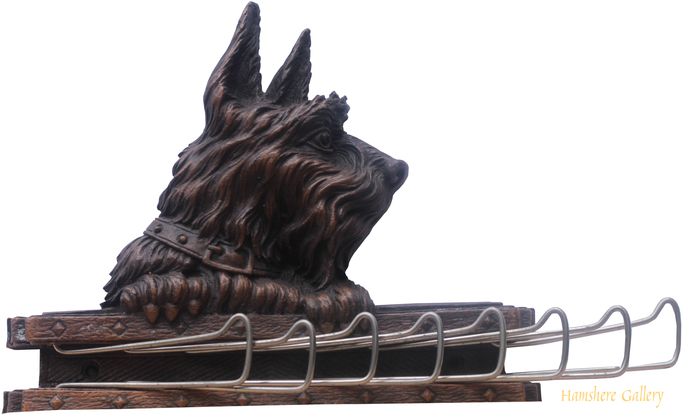 Click to see full size: Scottish Terrier tie rack