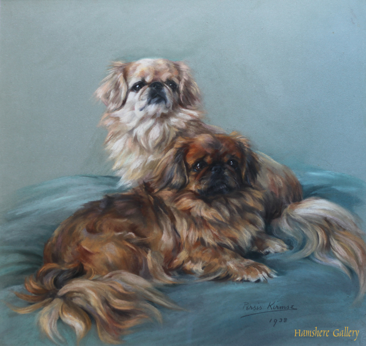 Click to see full size: Pekingese pastel by Persis Kirmse